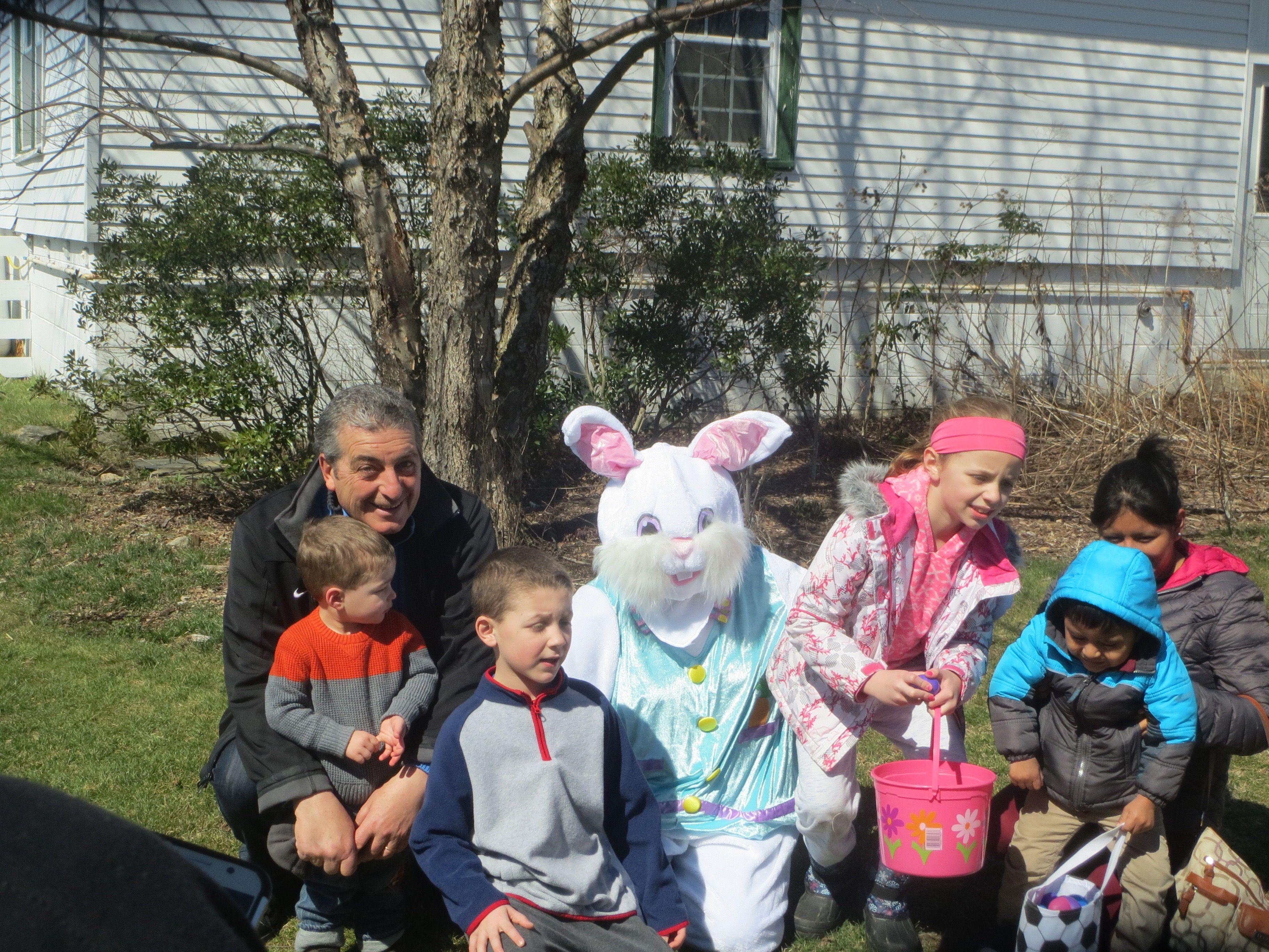 Family at Egg Hunt
