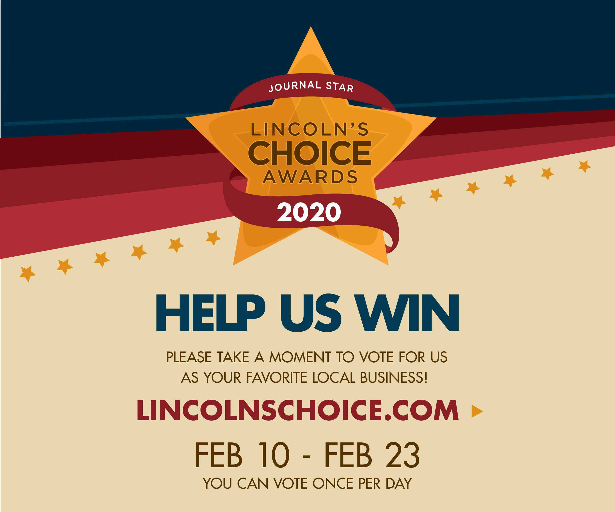 Vote Tabitha for Lincoln's Choice Awards