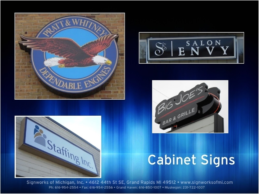 Cabinet Signs