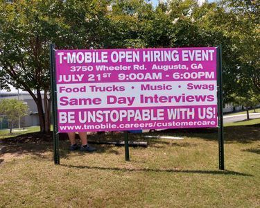 T-Mobile Hiring Event Banner