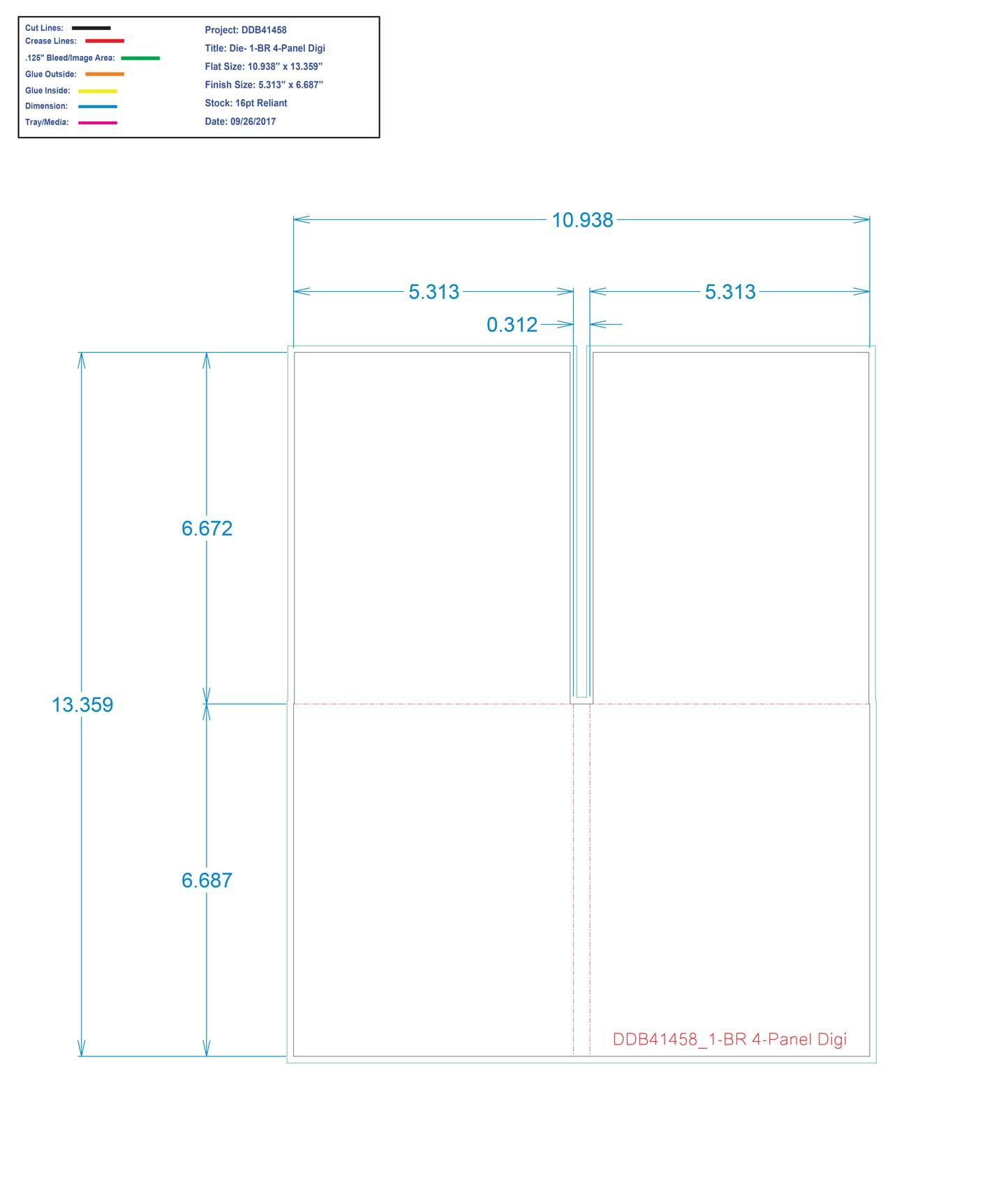 DDB41458 1-BR 4-Panel Digi