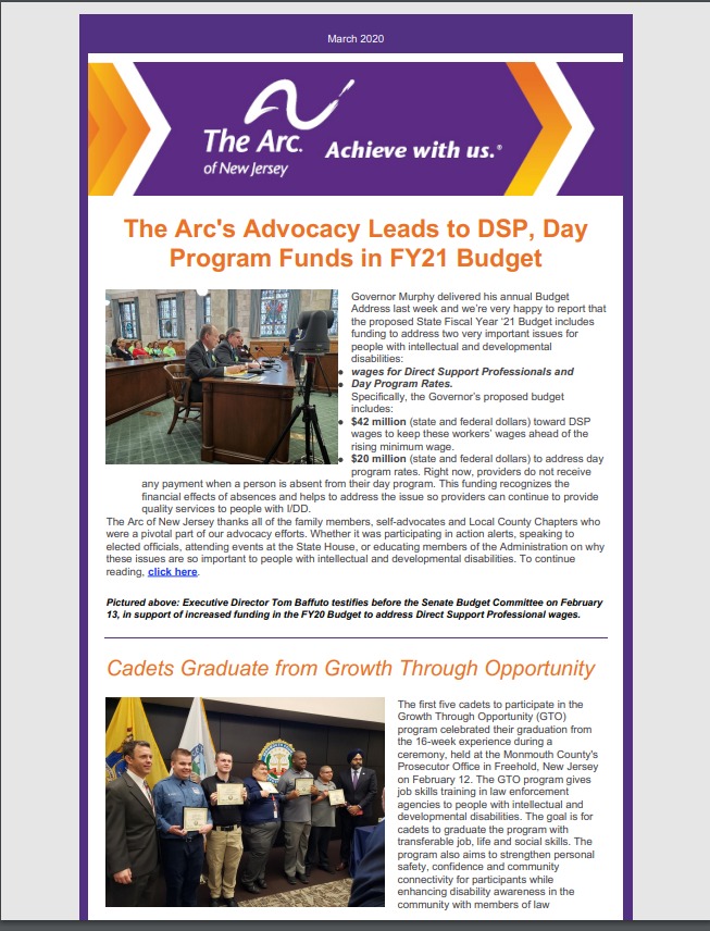 March E-Newsletter