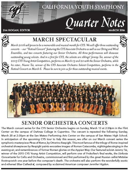 March 2016 Quarter Notes