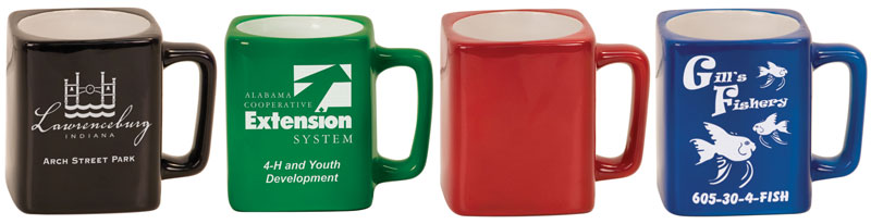 8oz Colored Square Mug