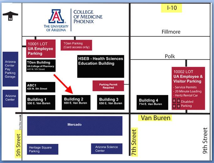 University Of Arizona Map University of Arizona College of Medicine Map University Of Arizona Map
