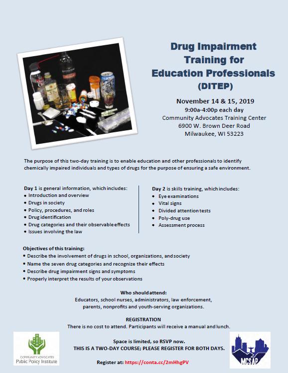 Drug Impairment Training for Education Professionals