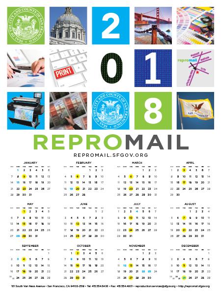 ReproMail 2018 Calendar