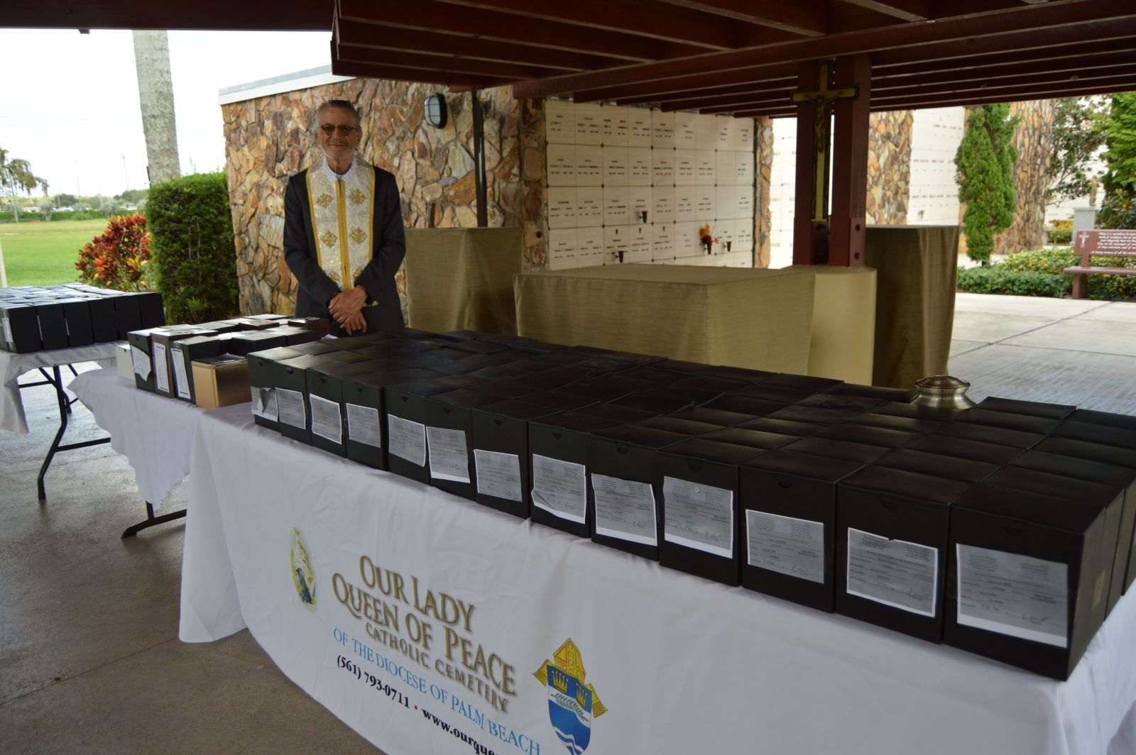 Compassion service blesses, buries 171 cremated remains