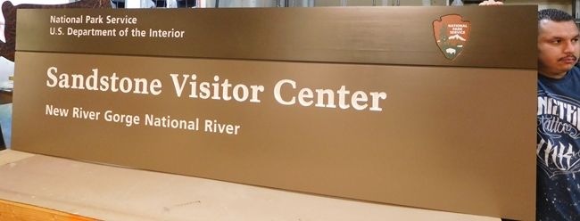 M5019 - Western Red Cedar National Park Service (NPS) Visitor Center Sign