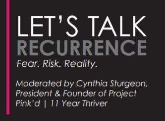 Area Medical Professionals to Join Project Pink'd at Upcoming Let's Talk Recurrence Live Panel