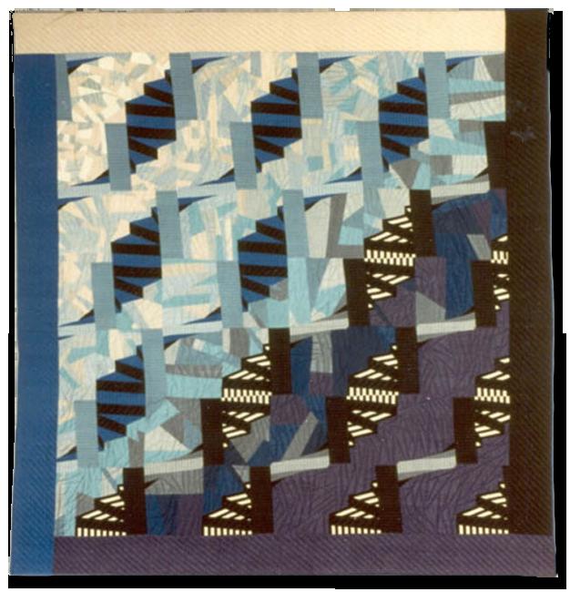 'Spirals II,' Made by Pauline Burbidge, Made in Nottingham, England, United Kingdom, Dated 1985, 88.5 x 83.5 in, IQSC 1997.007.1072
