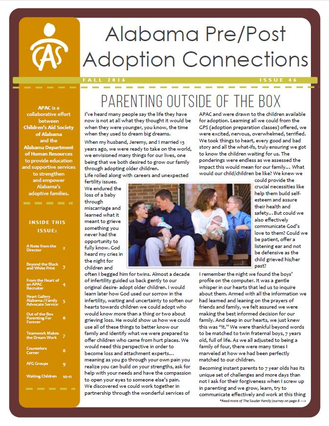 APAC Newsletter Fall 2016