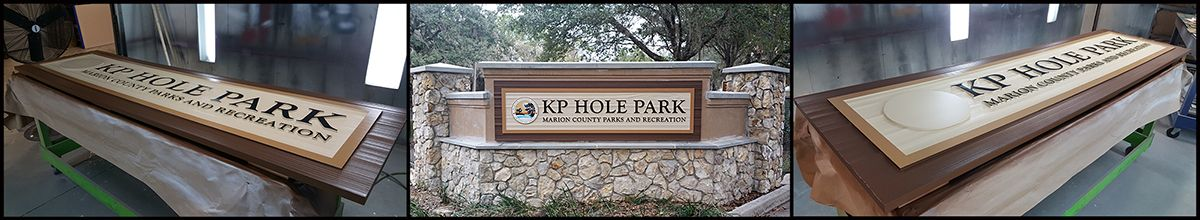 KP Hole Park HDU Sign