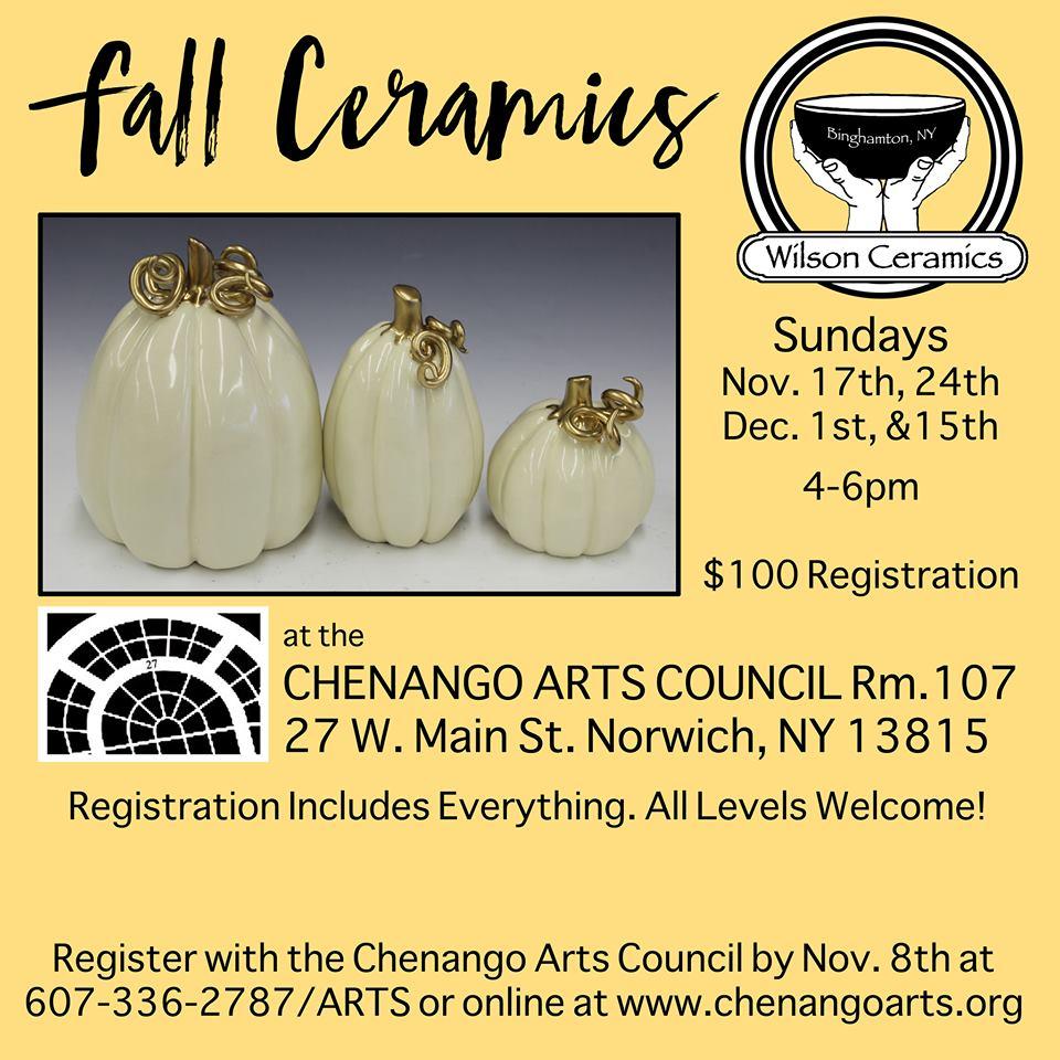 Fall Ceramics With Matt Wilson