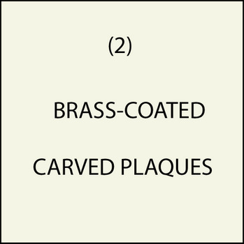 M7100 - (2). Brass-Coated Plaques