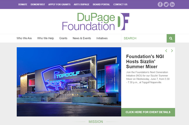 DuPage Foundation Debuts New Website