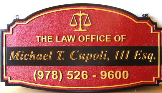 A10051 - Attorney's Law Office Carved and Sandblasted HDU Sign