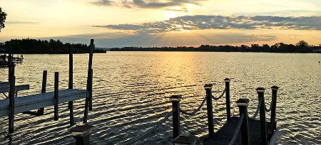 Photo of Buckeye lake at sunset.