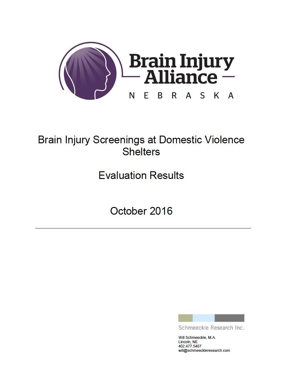 2016 Brain Injury in Domestic Violence Shelters Results