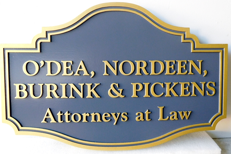 A10011  - Carved 2-D Law Office Sign
