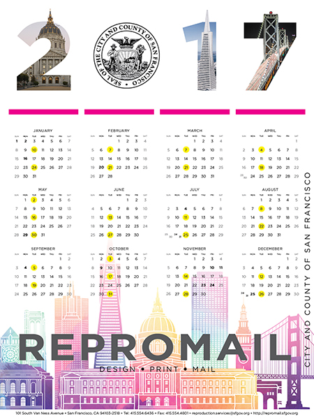 ReproMail 2017 Calendar