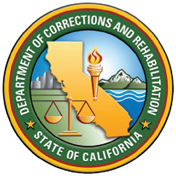 W32076 - 2.5D Carved Wooden Wall Plaque of the Seal for Department of Corrections, California