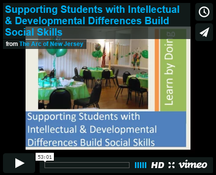 Supporting Students with Intellectual & Developmental Differences Build Social Skills