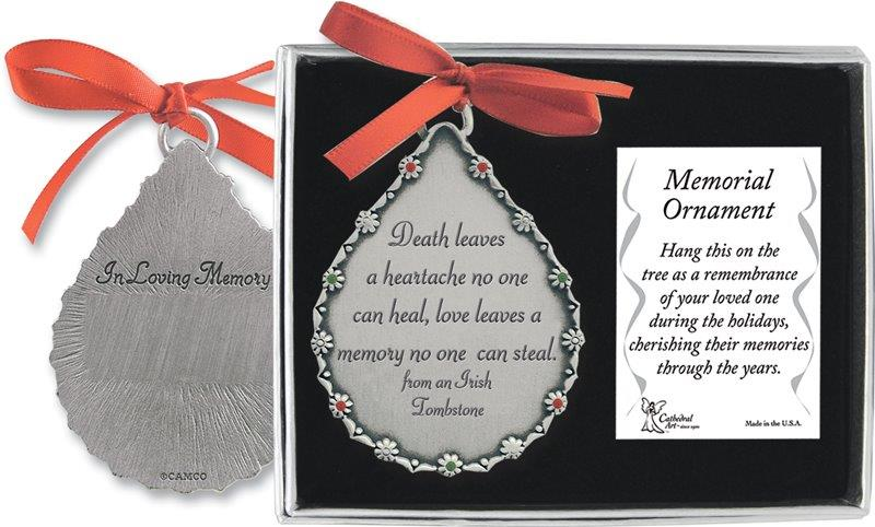 Death Leaves a Heartache Memorial Ornament
