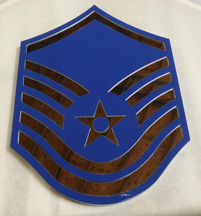 V31693- Carved Insignia Plaque for an USAF Master Sergeant (MSGT)