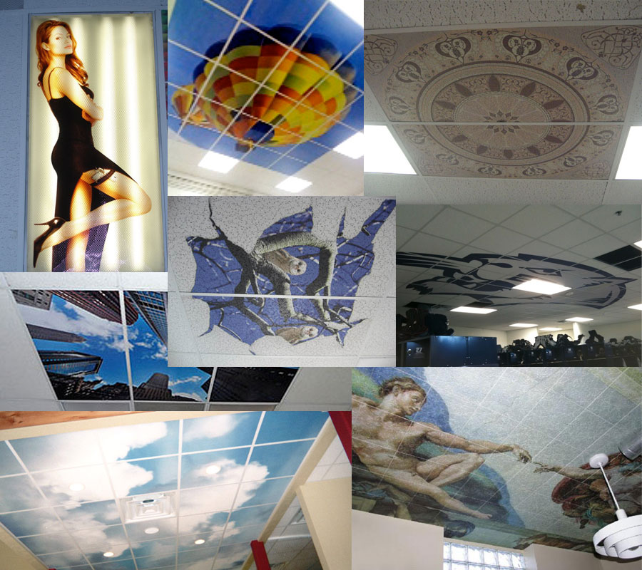 Custom Ceiling Tile Collage