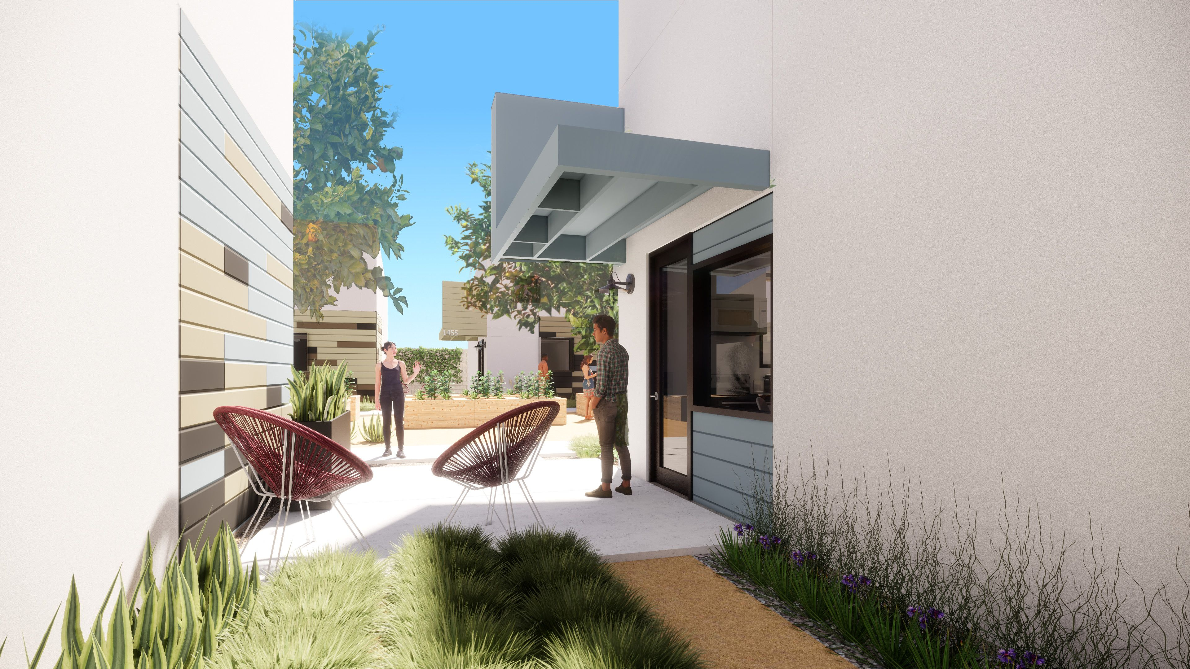 Artist Rendering of Private Side Yard