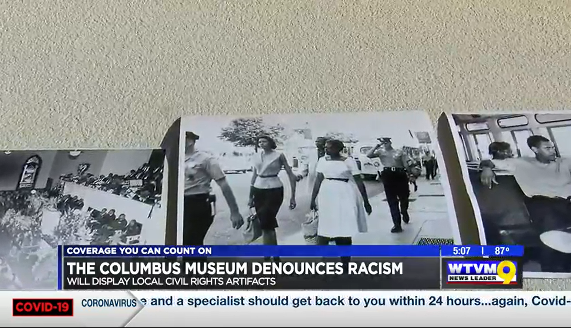 Columbus Museum speaks out against racial injustice; displaying local civil rights artifacts
