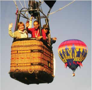 Group in Balloon