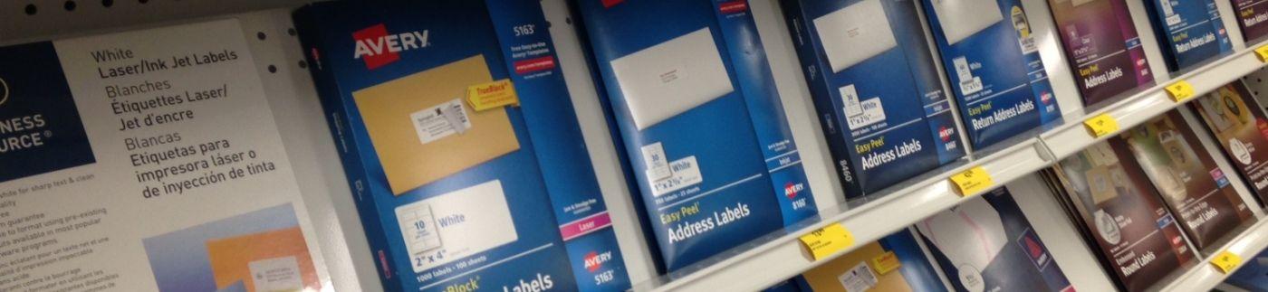 Labels on Retail Shelf