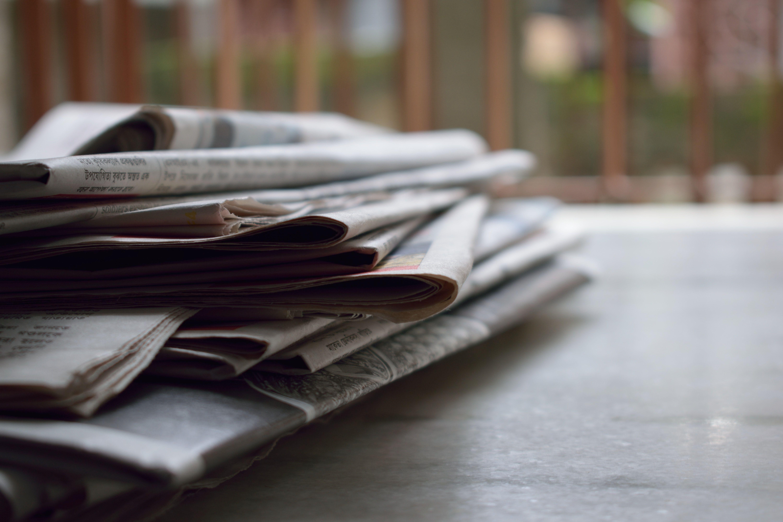 newspaper on keyboard PMA in the News