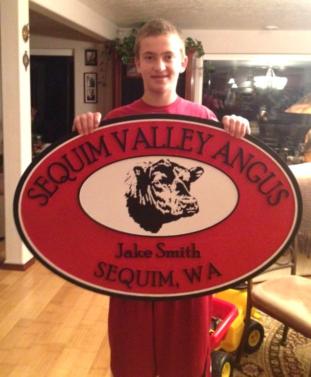 O24105 - Sequim Valley Angus Ranch Sign