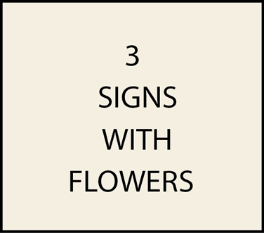 3. - I18200 - House and Estate Address Signs with Carved Hand-Painted Flowers