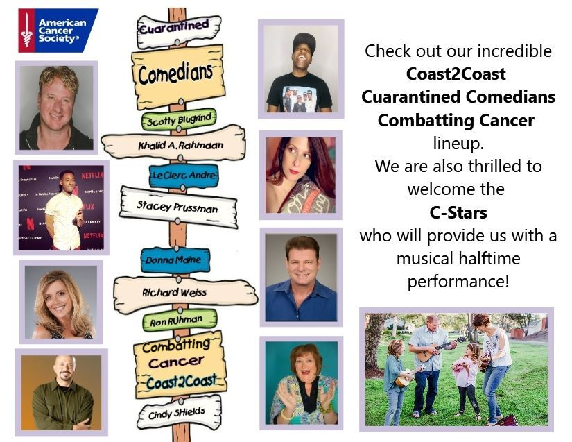 Cuarantined Comedians Combatting Cancer Event