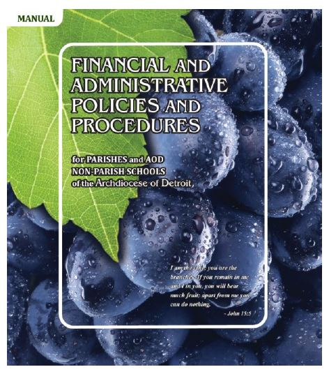 Financial and Administrative Policies and Procedures for Parishes & AOD Non-Parish Schools