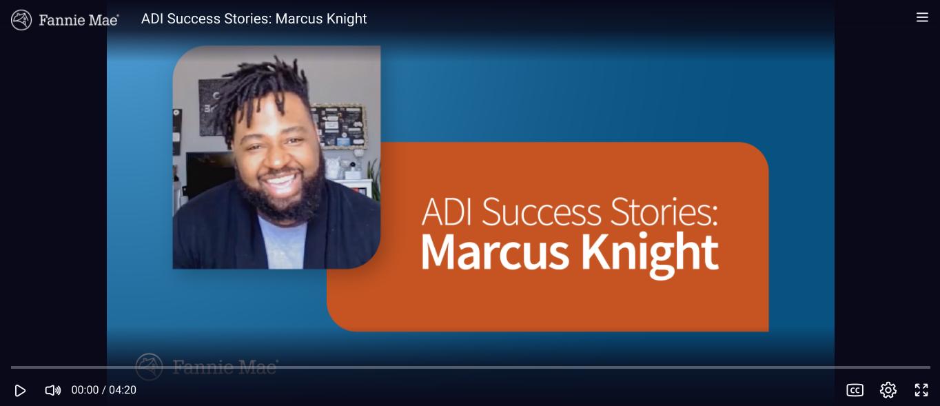 ADI Success Stories: Marcus Knight