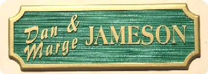 I18817 - Carved and Sandblasted HDU Residence Name Sign