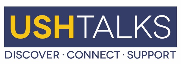 Logo: USH Talks: Discover, Connect, Support