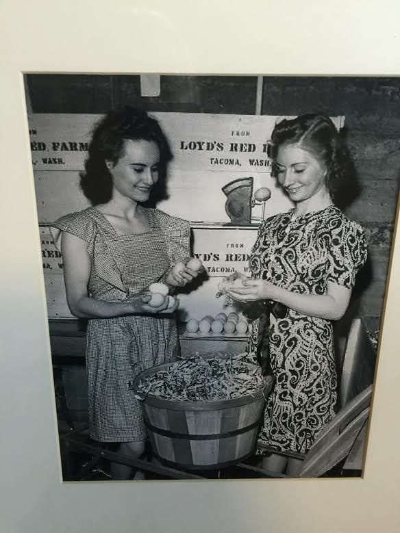 Gma (17) and her Sister (Aunt Lil) (16) at a local fair showing their parents Loyd's Rhode Island Reds eggs