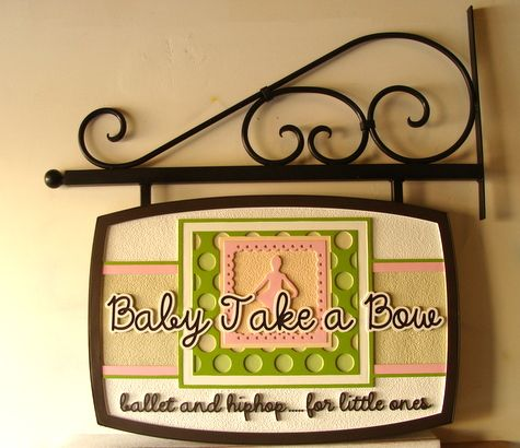 SA28023 - Carved Sign for a Ballet (and Hiphop) Studio for Small Children