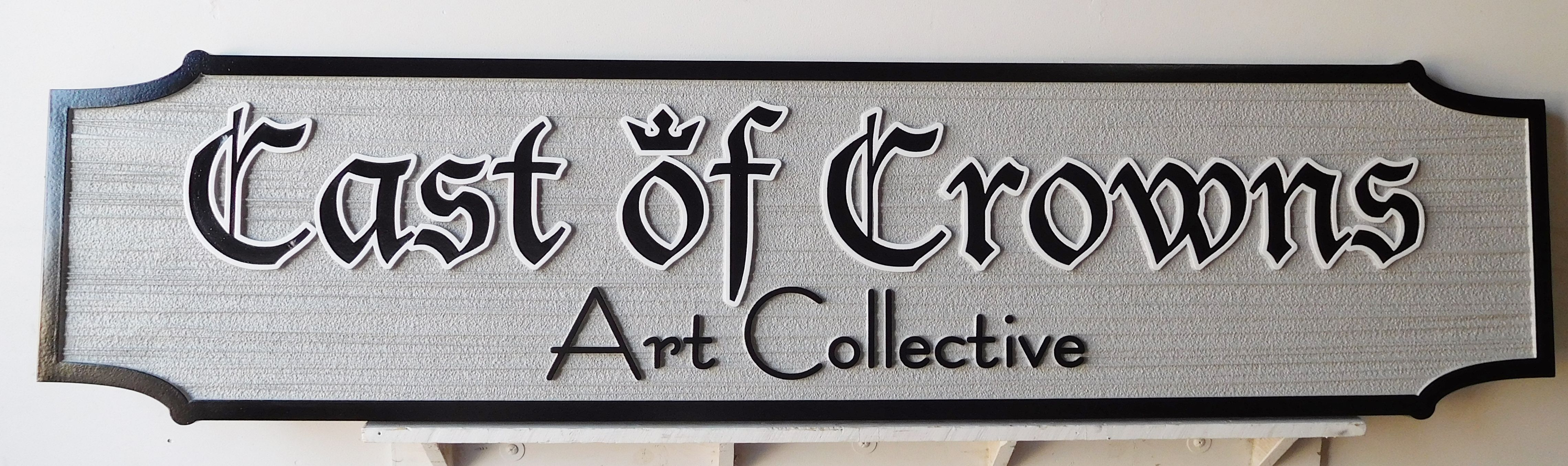 """SA28424 -  Carved and Sandblasted HDU Sign for the """"Cast of Crowns Art Collective"""""""