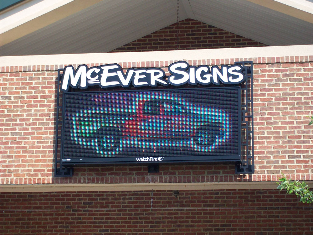 McEver Signs Digital Display