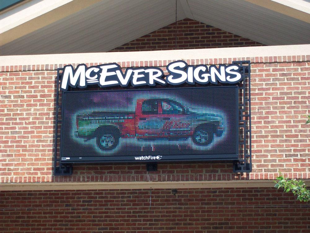 McEver Signs Digital Display