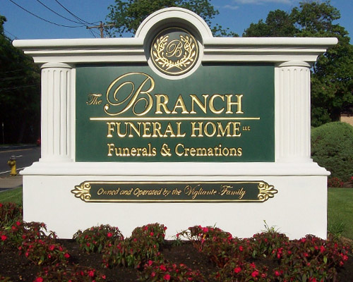 M6736 - Custom Neo-Classical Funeral Home Monument Sign