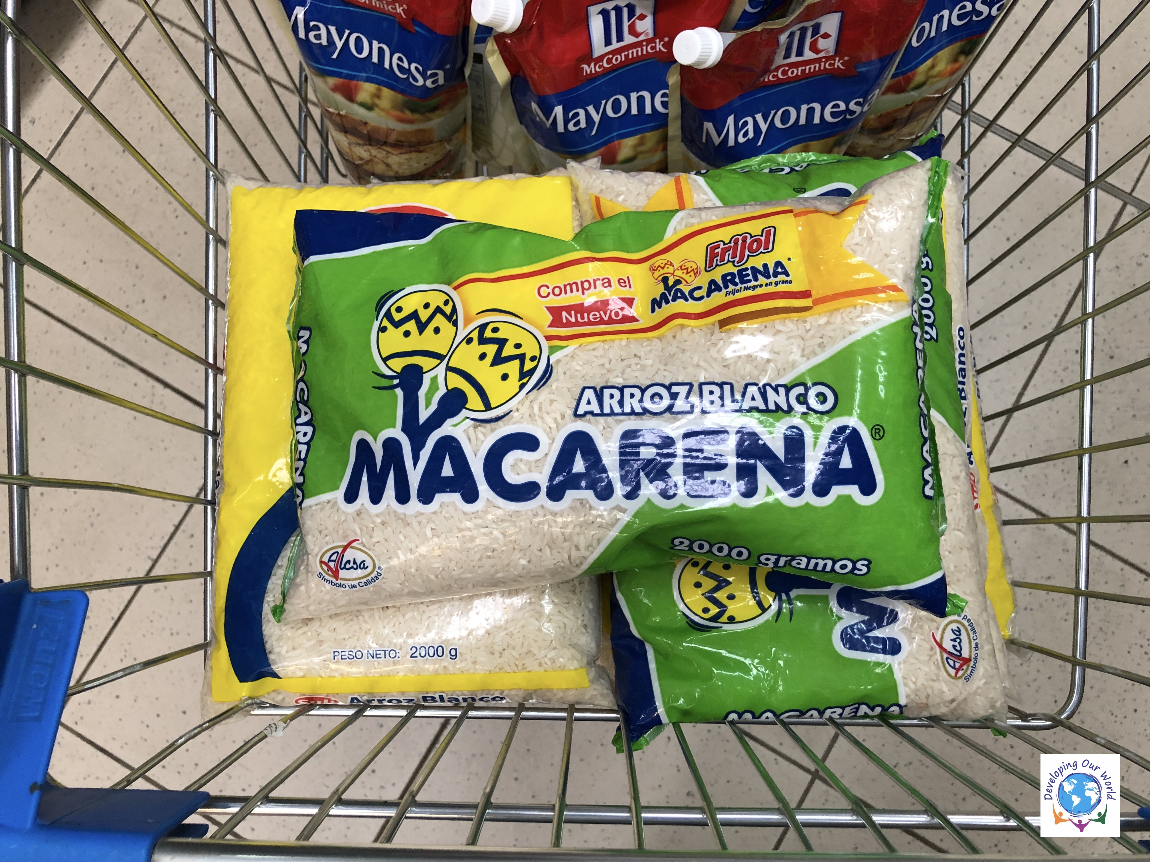 44 lbs of rice