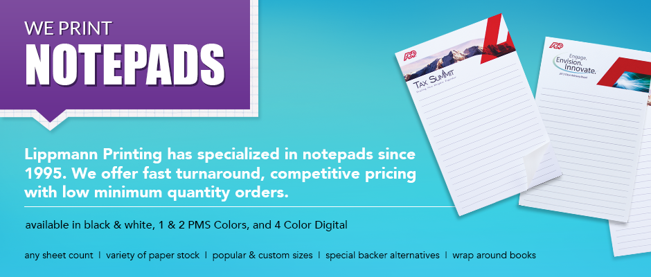 We Print Notepads